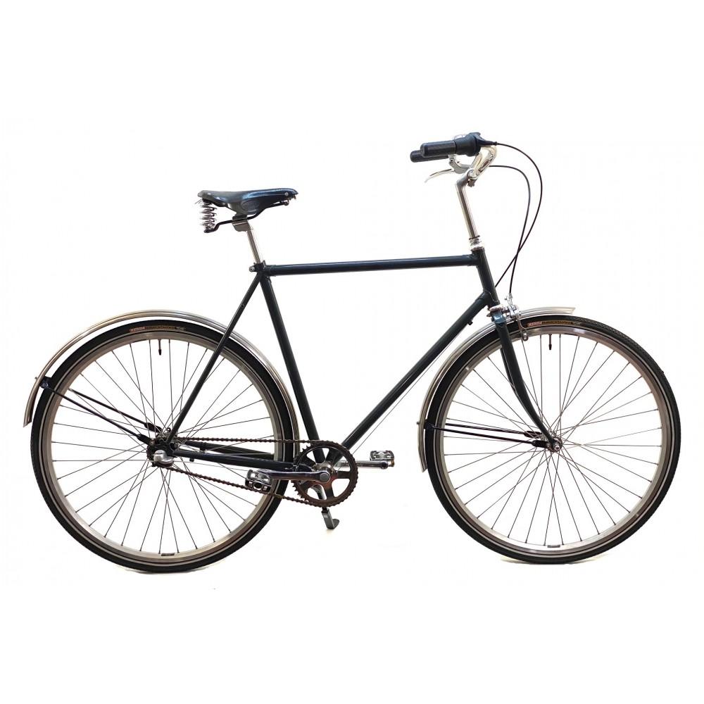 HndbyggetKlassiskCykelmed3ShimanoNexusGearBrooksLdersadelogRustfrieCykelskrme-31