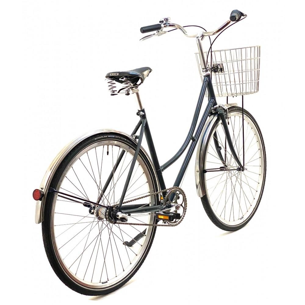 CBSCLASSICHndbyggetKlassiskCykelmed3GearBrooksLdersadelRustfriCykelkurv-31