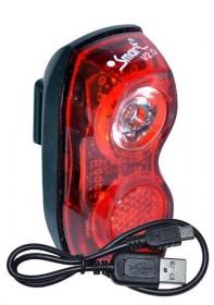 Smart LED Cykel Baglygte ➜ USB Opladelig Superflash