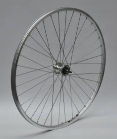 Forhjul med Shimano Rullebremse Fornav og Aluminiumsfælg 700C Sølv