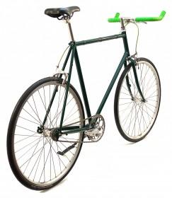 CBS-ROAD Håndbygget Cykel med Bullhorn, 1 Gear, Friløb & 2 Håndbremser