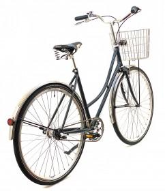 CBS-CLASSIC Håndbygget Klassisk Cykel med 3 Gear, Brooks Lædersadel & Rustfri Cykelkurv