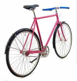 CBS-ROAD Håndbygget Sommer & Vinter Cykel med 1 Gear, Fodbremse & Skærme