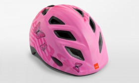 MET Genio Pink Sommerfugl Cykelhjelm 52-57 CM