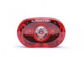 Smart Superflash Cykel Baglygte LED med Batterier
