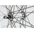 Forhjul med Dobbelbundet Aluminiumsfælg og Nippelforstærkning 700C Sort