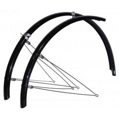 Cykel Skærmsæt 45 mm. Bredde til Citybikes/Sportscykler - Sorte