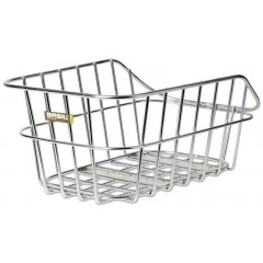 Basil Cento Aluminiums Cykel Bagkurv til Bagagebærer Sølv