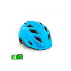 MET Genio Cykelhjelm Blå - Green Buckle - 52-57 CM